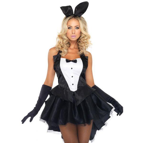 Костюм кролика из пышного мини-платья
