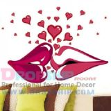 SALE! Vinyl decal - Kiss with hearts
