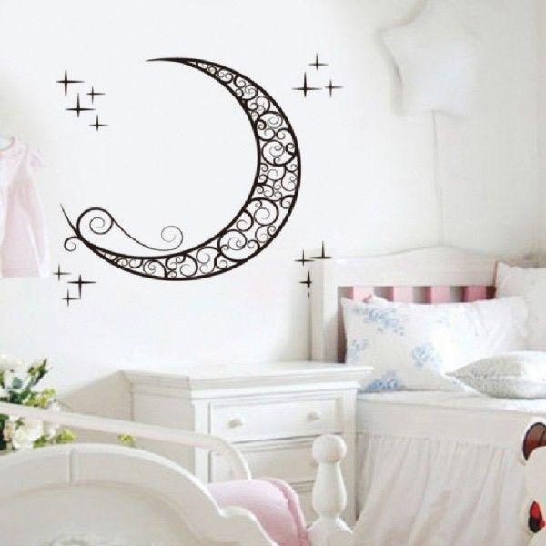 Виниловая наклейка - Очертания луны