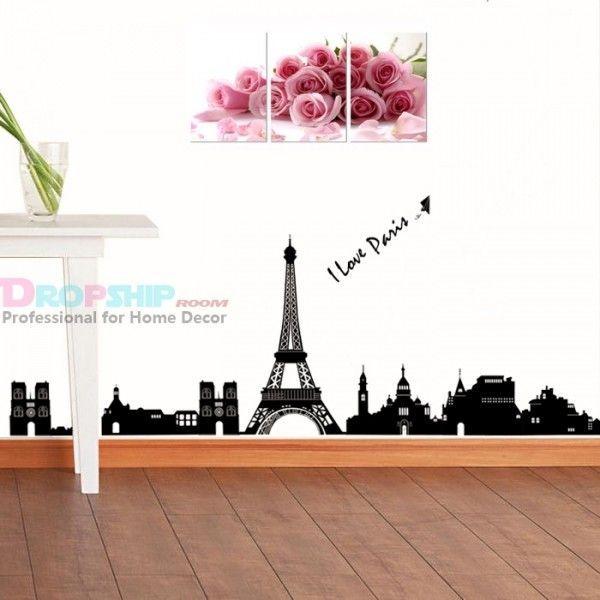Виниловая наклейка - I love Paris