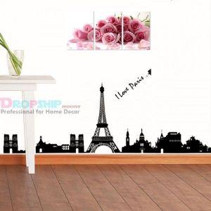 РАСПРОДАЖА! Виниловая наклейка - I love Paris - Интерьер, декор