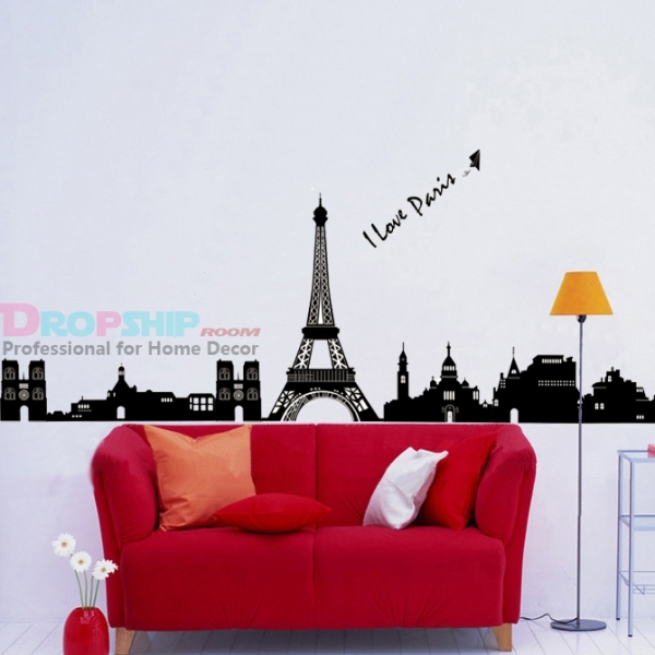 SALE! Vinyl decal - I love Paris. Артикул: IXI36921