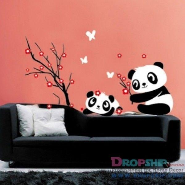 Виниловая наклейка - Мишки панда