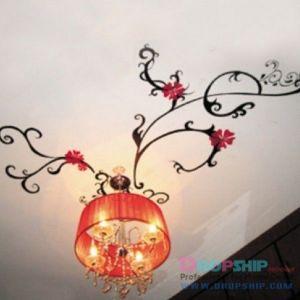 РАСПРОДАЖА! Виниловая наклейка - Абстракция над люстрой - Интерьер, декор