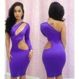 Сексуальное платье фиолетового цвета