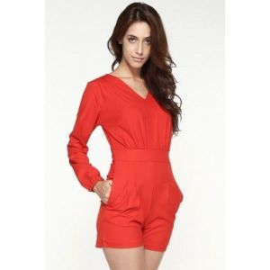 Stylish jumpsuit red
