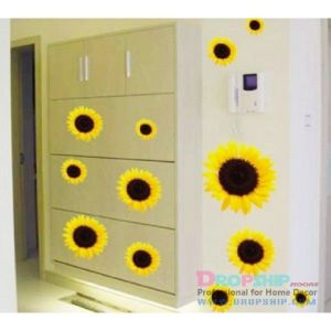 SALE! Vinyl decal - Sunflowers