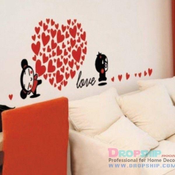 Виниловая наклейка - Love, сердце из сердечек