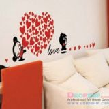 SALE! Vinyl decal - Love, heart of hearts