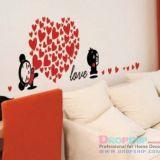 РАСПРОДАЖА! Виниловая наклейка - Love, сердце из сердечек по оптовой цене