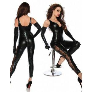 Erotic jumpsuit vinyl