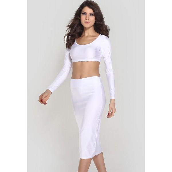 Top with skirt white. Артикул: IXI37898