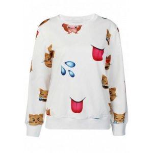 Свитшот белый Эмджой принт - Кофты, блузы