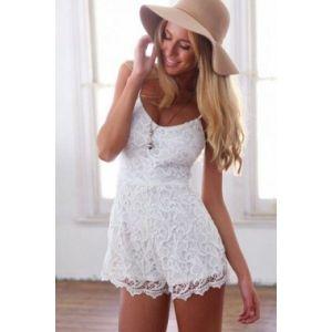 Очаровательный кружевной комбинезон - Пляжная одежда
