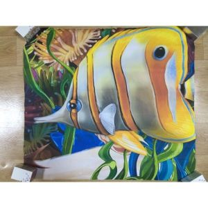 SALE! Sticker butterfly Fish