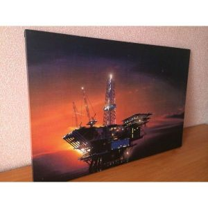 SALE! Canvas on stretcher Oil platform