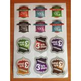 SALE! The lights, set of labels on A4