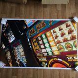 РАСПРОДАЖА! Постер Игровые автоматы большой по оптовой цене