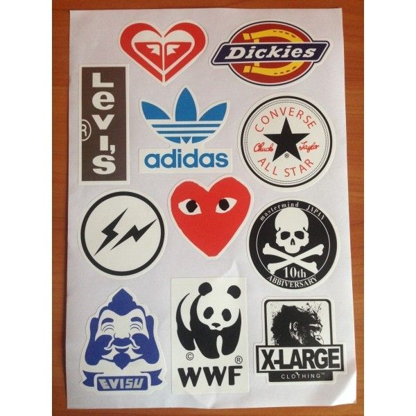РАСПРОДАЖА! Стикербомбинг, набор наклеек WWF. Adidas
