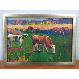 SALE! The picture of the canvas in the frame Ladybugs. Артикул: IXI38387