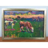 РАСПРОДАЖА! Картина из холста в раме Коровки по оптовой цене