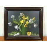 РАСПРОДАЖА! Картина Цветы на холсте по оптовой цене