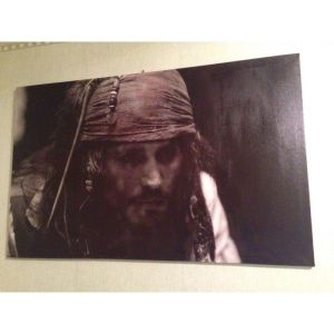 SALE! Canvas on stretcher Jack Sparrow