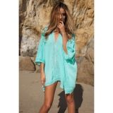 Милое пляжное пончо-кимоно по оптовой цене