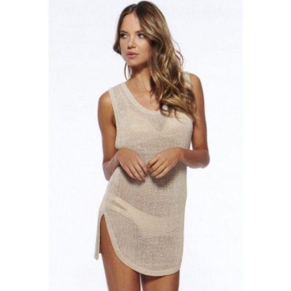 Сексуальное летнее вязаное платье