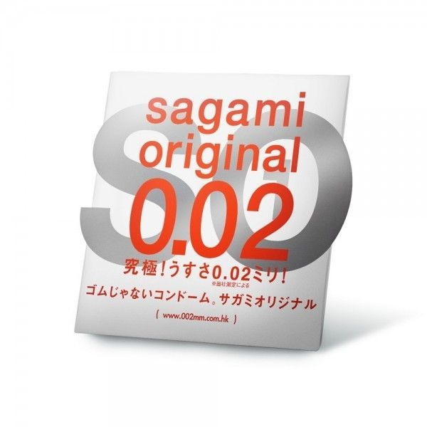 Polyurethane condoms Sagami Original 0.02 mm, 1 piece