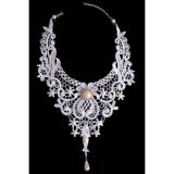 Necklace in white lace