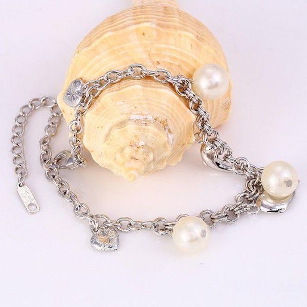 РАСПРОДАЖА! Модный браслет Xuping серебреный с камушками