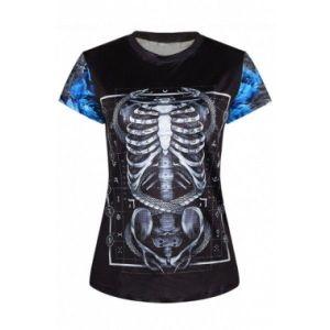 Оригинальная женская со скелетом футболка
