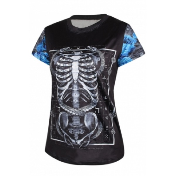 The original female with a skeleton t-shirt. Артикул: IXI39482