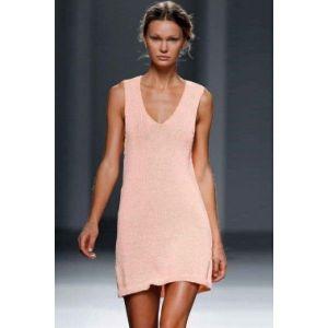 Нежно розовое пляжное платье - Пляжная одежда
