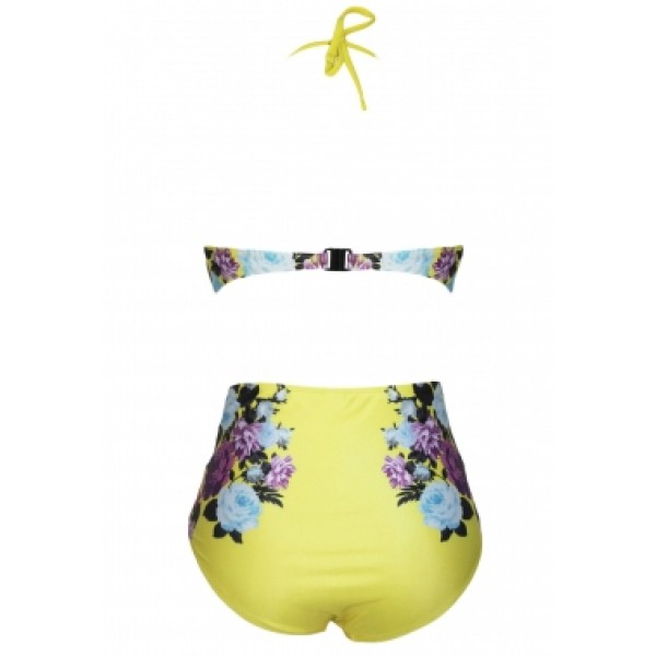 Swimsuit with floral print. Артикул: IXI39738