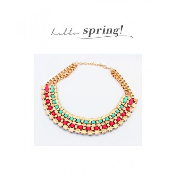 Multi-colored necklace. Артикул: IXI39812
