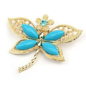 Butterfly brooch with a flower