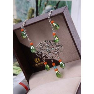 РАСПРОДАЖА! Шикарное ожерелье с горным хрусталём