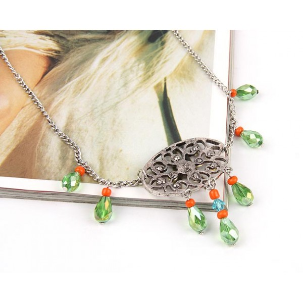Elegant necklace with rock crystal. Артикул: IXI39838
