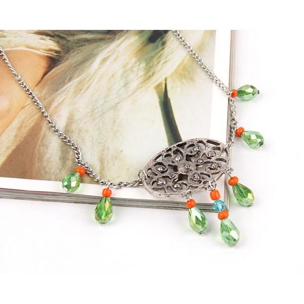 Elegant necklace with rock crystal. Артикул: IXI39838