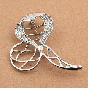 Shimmering brooch - Cobra