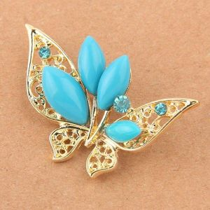Brooch - Golden butterfly. Артикул: IXI39845