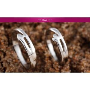 White with light gold plated, two rings for her and him