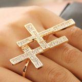 Двойное кольцо - двойной крест цена фото