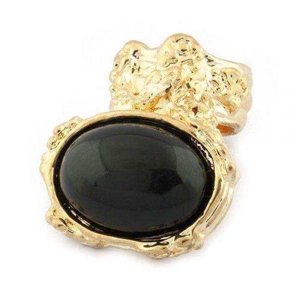 РАСПРОДАЖА! Кольцо с черным камнем