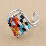 РАСПРОДАЖА! Разноцветное кольцо из меди по оптовой цене