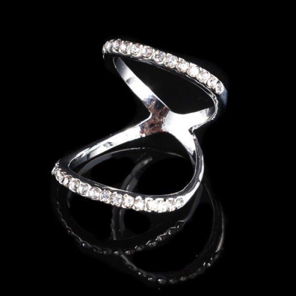 РАСПРОДАЖА! Двойное серебристое кольцо