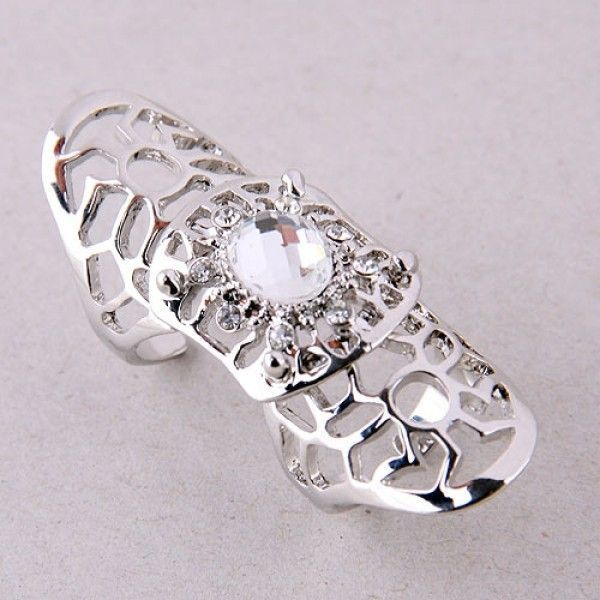 РАСПРОДАЖА! Двойное кольцо с камнем