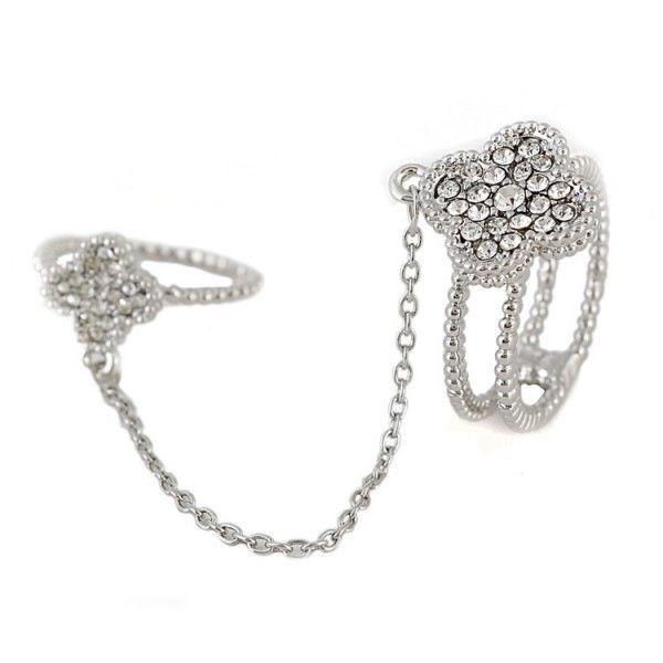Купить онлайн Двойное кольцо - Ромбик фото цена акция распродажа